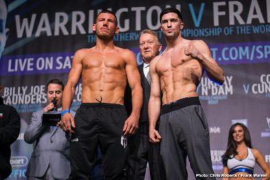 Carl Frampton Josh Warrington Boxing News British Boxing