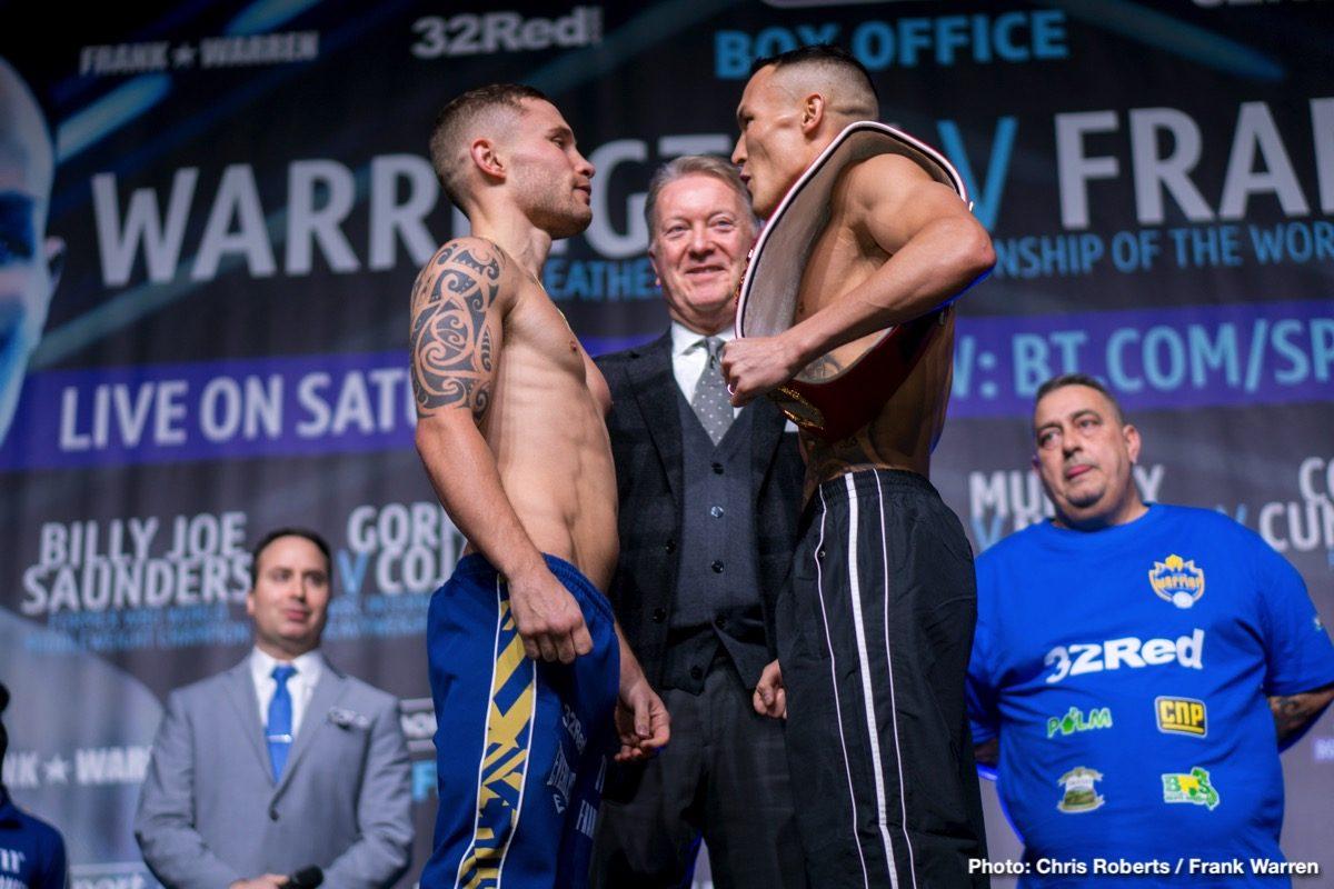 Carl Frampton Josh Warrington Michael Conlan Boxing News British Boxing Top Stories Boxing