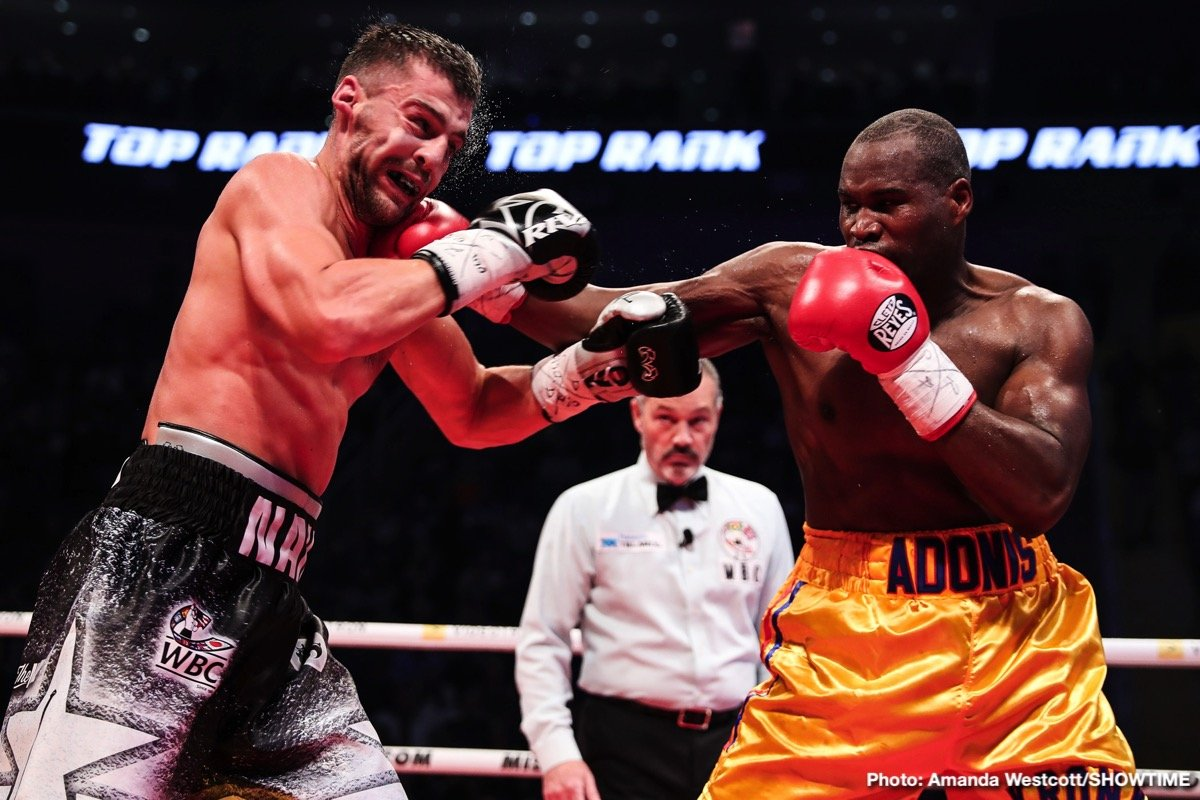 Adonis Stevenson - On a night when there wasn't a big world heavyweight title fight taking place, last night's Oleksandr Gvozdyk-Adonis Stevenson fight would have dominated the boxing headlines. It was a great action fight and underdog Gvozdyk scored the upset in knocking the defending light-heavyweight champ out in the eleventh-round. Unfortunately, however, there is a bigger story attached to the fight – an unpleasant one.