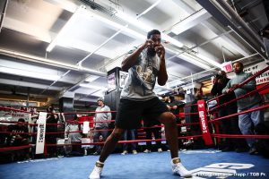"Dominic Breazeale - In just under two weeks, former world title challenger Dominic ""Trouble"" Breazeale (20-1, 18 KO's) gets his second shot at a world title as he makes his return to the ring against Deontay Wilder (40-0-1, 39 KO's) on May 18, 2019 at the Barclays Center in Brooklyn, New York. The intriguing heavyweight match up is scheduled to headline the Premier Boxing Champions telecast on Showtime Championship Boxing.  Breazeale's last outing was an impressive one as he stopped undefeated Puerto Rican Olympian Carlos Negron via KO in the 9th round in a nationally televised event."