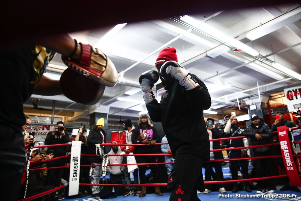 Carlos Negron, Dominic Breazeale, Jermall Charlo, Jermell Charlo, Matt Korobov, Tony Harrison -  As fight night approaches, fighters competing on Saturday's Premier Boxing Champions on FOX and FOX Deportes event showed off their skills at a media workout at world famous Gleason's Gym before they step into the ring on December 22 from Barclays Center, the home of BROOKLYN BOXING™.