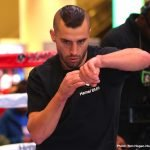 """David Lemieux -  David Lemieux (40-4, 34 KOs) will make his 168-pound debut when he takes on John """"The Gorilla"""" Ryder (27-4, 15 KOs) in the scheduled 12-round co-main event of Canelo vs. Jacobs. The card will also feature the returns of Vergil Ortiz Jr., Pablo Cesar """"El Demoledor"""" Cano, Joseph """"JoJo"""" Diaz Jr., Sadam """"World Kid"""" Ali and Lamont Roach Jr., in separate bouts. The event will take place Saturday, May 4 at T-Mobile Arena in Las Vegas and will be streamed live exclusively on DAZN."""