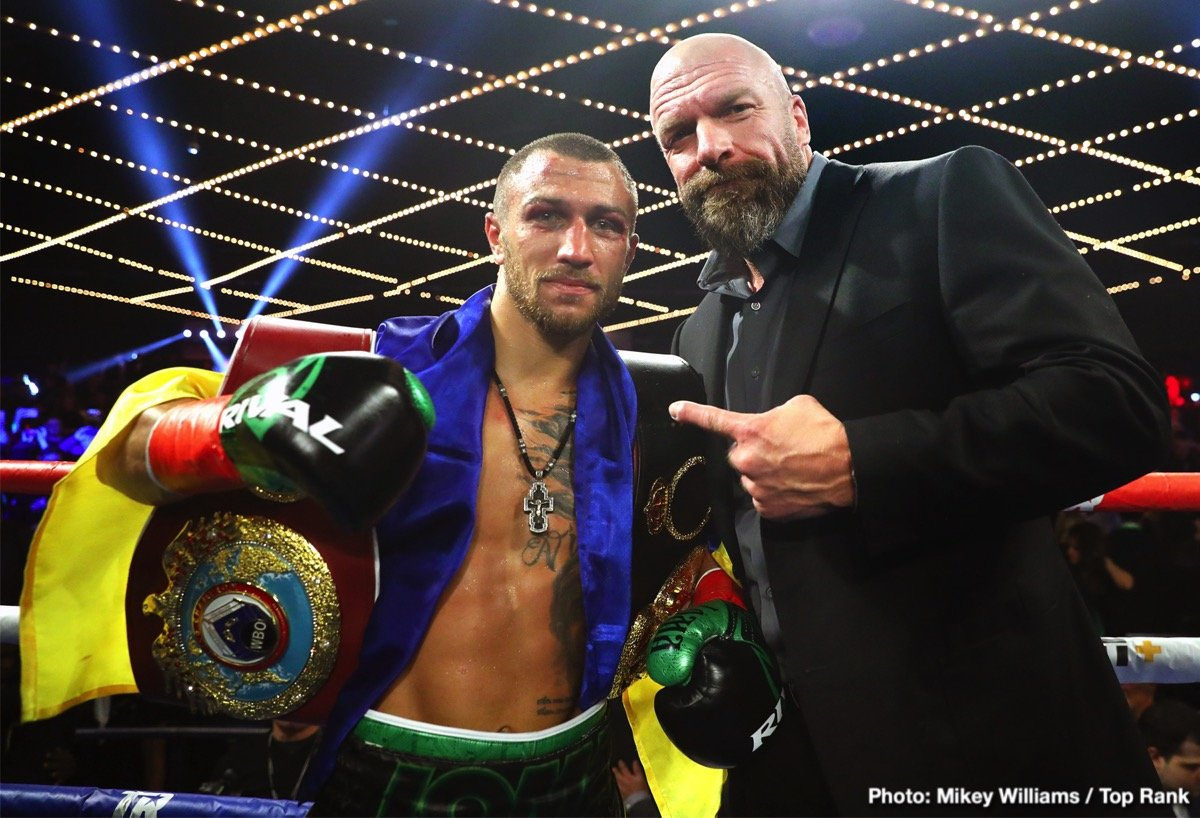 Vasyl Lomachenko - Richard Commey's misfortune could well turn out to be Anthony Crolla's good fortune. Commey, who picked up the vacant IBF lightweight title with a crushing stoppage win over Isa Chaniev last weekend, hurt his right hand in the short bout. Now it has been confirmed that Commey will not be able to go ahead with his planned April unification fight with WBA/WBO/Ring Magazine ruler Vasyl Lomachenko.