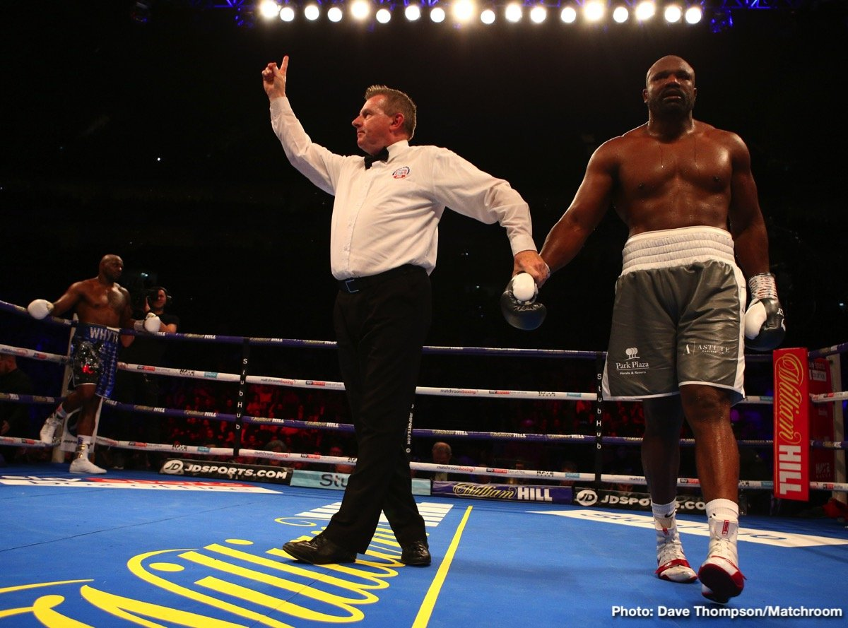 Anthony Joshua Dereck Chisora Dillian Whyte Eddie Hearn Boxing News Boxing Results Top Stories Boxing