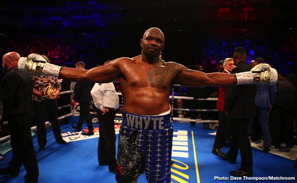 Anthony Joshua Deontay Wilder Dillian Whyte Tyson Fury Boxing News