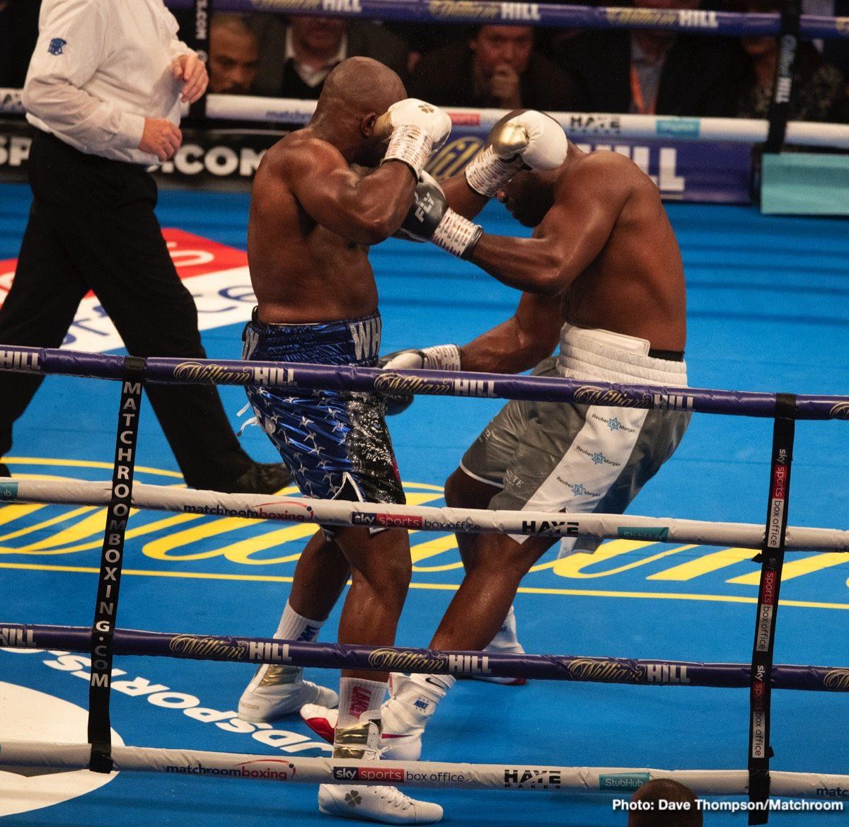 Anthony Joshua Dillian Whyte Boxing News British Boxing