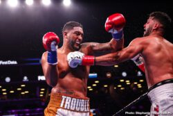 Dominic Breazeale, Jermell Charlo, Matt Korobov - WBC Interim Middleweight Champion Jermall Charlo (28-0, 21 KOs) won a hard-fought unanimous decision over Matt Korobov (28-2, 13 KOs) to defend his title in the main event of Premier Boxing Champions on FOX and FOX Deportes Saturday night from Barclays Center, the home of BROOKLYN BOXING™.