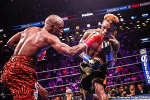"""Julio Ceja -  WBC Super Welterweight Champion Tony """"Superbad'' Harrison and former super welterweight champion Jermell Charlo will step into the ring for a highly anticipated rematch live in primetime Sunday, June 23 in the main event of Premier Boxing Champions on FOX and FOX Deportes from Mandalay Bay Events Center in Las Vegas."""