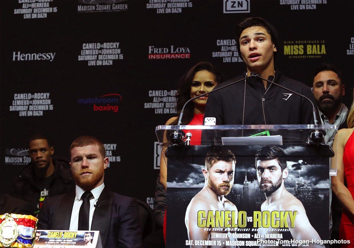 Luke Campbell, Rene Alvarado, Roger Gutierrez, Ryan Garcia - Press Room