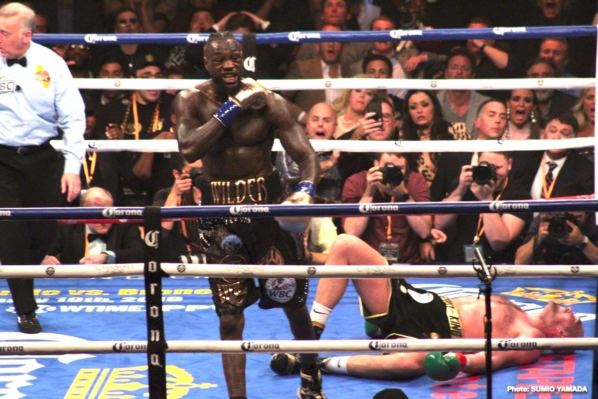 Deontay Wilder - This past Saturday Deontay Wilder joined an exclusive group when he made the 10th consecutive title defense of his heavyweight championship.