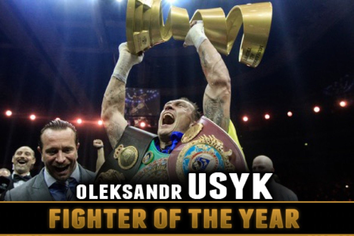 Aleksandr Usyk -  The reigning cruiserweight (WBA/WBC/WBO/IBF) world champion, Oleksandr Usyk (16-0, 12 KOs) had an outstanding year in which he won the first-ever Muhammad Ali trophy. He prevailed in the eight-man World Boxing Super Series cruiserweight tournament over Murat Gassiev, and in the process, became only the fourth undisputed world champion in the four-belt era (Bernard Hopkins 2004, Jermain Taylor 2005, and Terence Crawford 2017) and he did it in just his fifteenth professional fight.