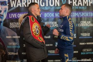 Martin Murray - The final press conference took place today ahead of Josh Warrington's (27-0) IBF world featherweight title defence against Carl Frampton (26-1) at Manchester Arena on Saturday night (22nd December) live on BT Sport Box Office.