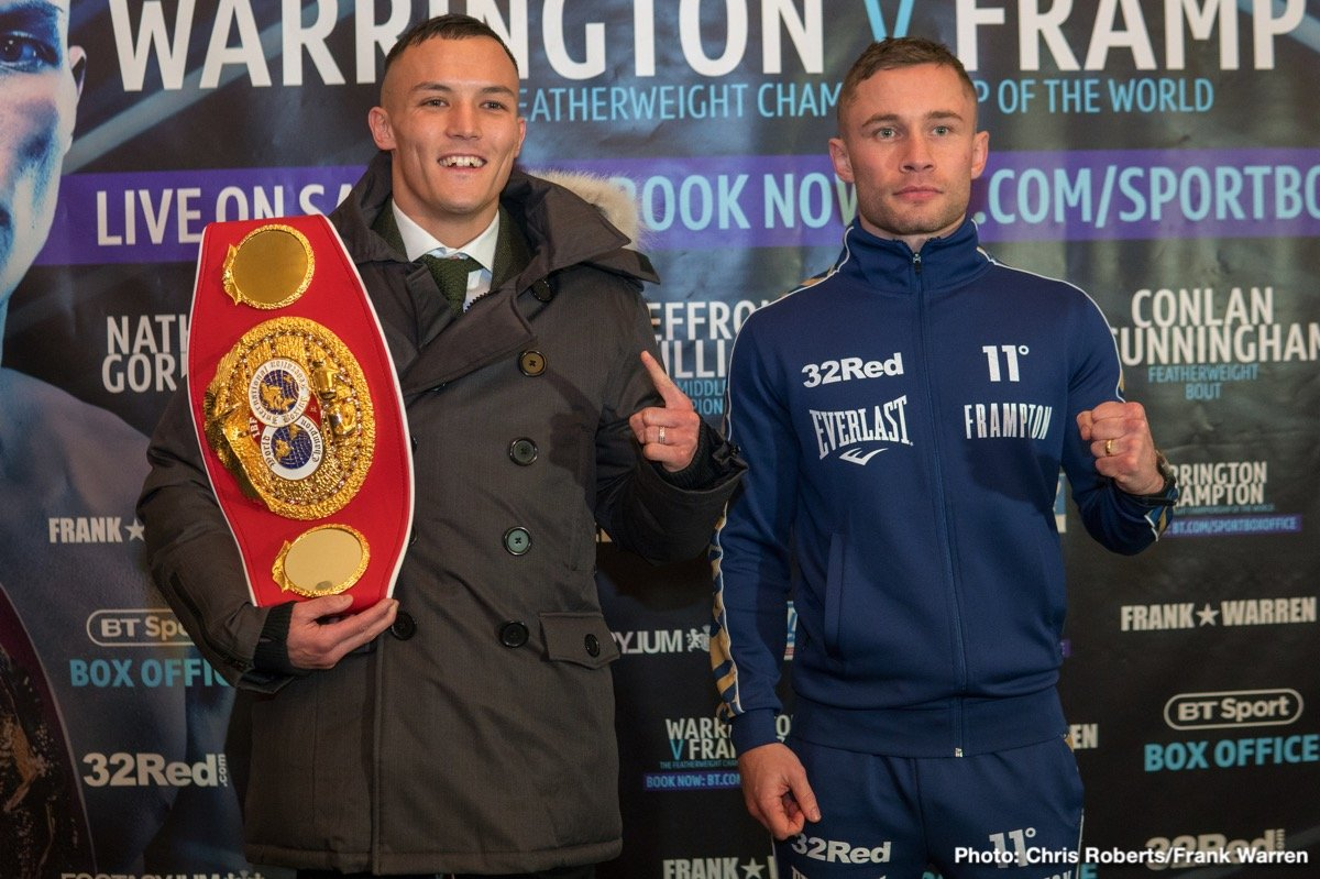 Carl Frampton, Hassan N'Dam N'Jikam, Josh Warrington, Liam Williams, Mark Heffron, Martin Murray, Nathan Gorman - The final press conference took place today ahead of Josh Warrington's (27-0) IBF world featherweight title defence against Carl Frampton (26-1) at Manchester Arena on Saturday night (22nd December) live on BT Sport Box Office.