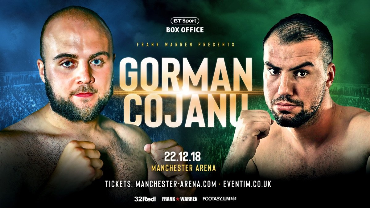 Razvan Cojanu - Razvan Cojanu will step in to take on Ricky Hatton-trained heavyweight prospect Nathan Gorman on December 22nd after the late pull-out of Gorman's original opponent, Alex Leapai.