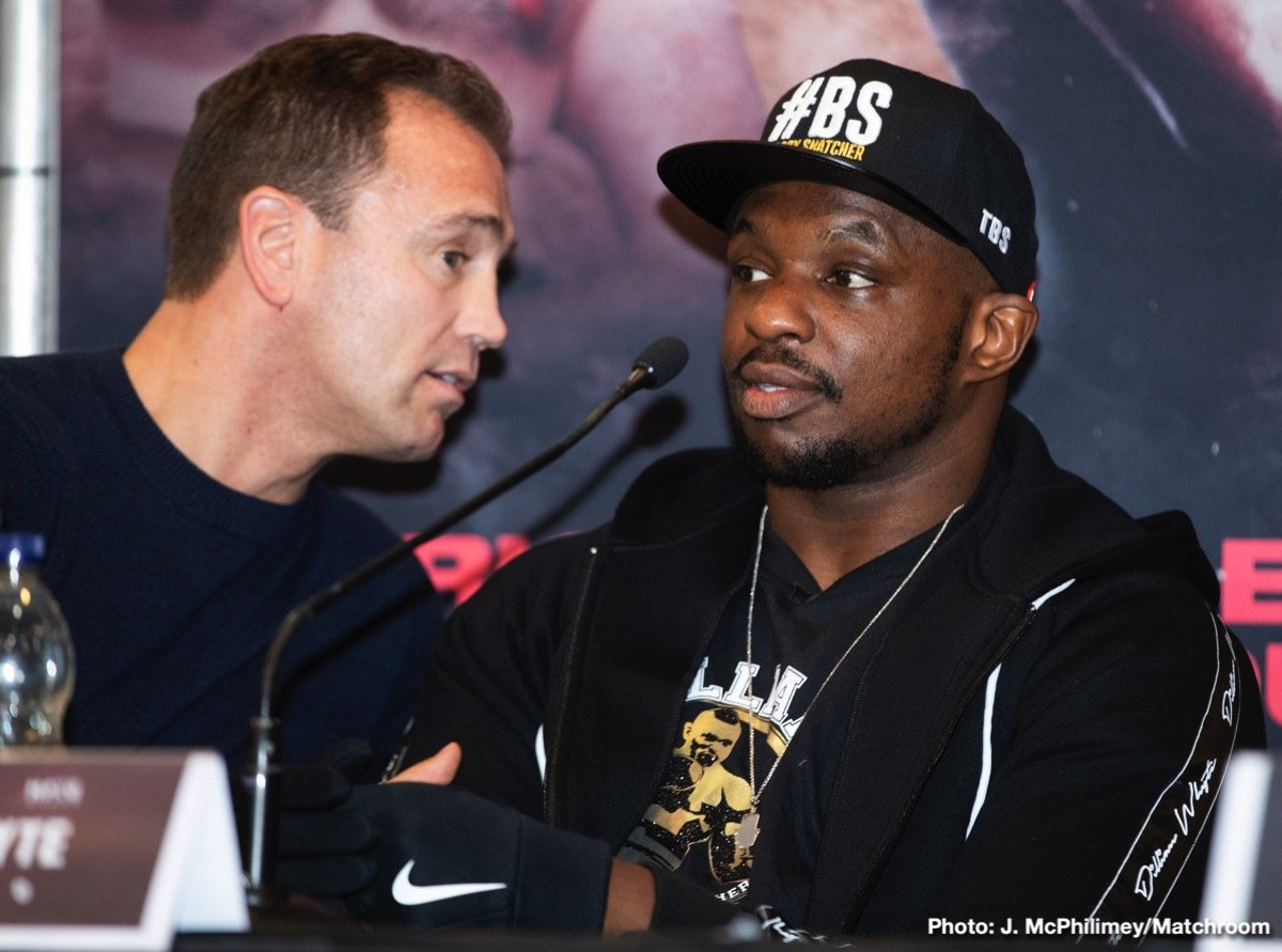 Dereck Chisora, Dillian Whyte - Top-rated heavyweight contenders Dillian Whyte and Derek Chisora took part in the final press conference before their highly anticipated rematch Saturday, December 22 live on SHOWTIME at 5:00 p.m. ET/2:00 p.m. PT from The O2 in London.