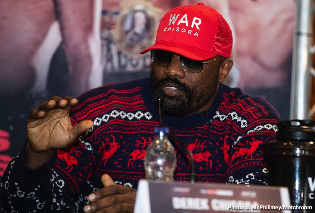 Dereck Chisora - Derek Chisora says he would be open to fighting former undisputed Cruiserweight World Champion Oleksandr Usyk – should he come through his crunch Heavyweight clash with Senad Gashi at The O2 in London this Saturday, shown live on Sky Sports in the UK and DAZN in the US.