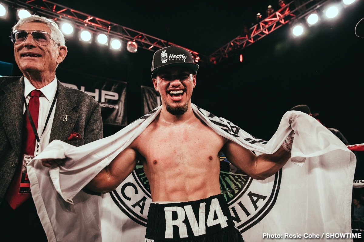 Ruben Villa - In a battle of undefeated Rubens, former decorated amateur Ruben Villa (15-0, 5 KOs) handed Colombian Ruben Cervera (10-1, 9 KOs) his first career defeat scoring a dominating unanimous decision, 80-72 on all three scorecards in the eight-round featherweight co-feature bout.