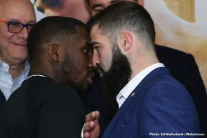 Jono Carroll - With just over six weeks until the fighters square off in front of thousands of Philadelphia fight fans, Matchroom USA gathered in the City of Brotherly Love on Tuesday afternoon to announce the March 15 card at the Liacouras Center. The action-packed evening will be headlined by IBF World Super Featherweight Titlist Tevin Farmer defending his belt in his hometown against undefeated Jono Carroll. The action-packed event will also feature IBF & WBA World Female Lightweight Titlist Katie Taylor in a unification bout against the WBO World Female Lightweight Titlist Rose Volante, Philly's Gabriel Rosado will go up against Maciej Sulecki in a middleweight tilt, and two Philadelphia natives, Hank Lundy and Avery Sparrow, will face off in a lightweight bout in front of their hometown crowd. In anticipation, the fighters took the podium to discuss their upcoming training camp, preparation, and thoughts on the fights - which will be streamed exclusively on DAZN.