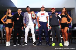 """Eleider Alvarez, Sergey Kovalev - When current WBO Light Heavyweight World Champion, Eleider Alvarez, steps in the ring to face Sergey """"Krusher"""" Kovalev in their much-anticipated rematch on February 2 at the Ford Center at The Star in Frisco, Texas live on ESPN+ (https://plus.espn.com), it will Kovalev's fifteenth consecutive world championship fight. As the challenger, Kovalev will seek to utilize his extensive championship experience to avenge his title loss in his ESPN+ debut and take back his title. Alvarez looks to prove his upset over Kovalev in their last fight was just the beginning of a championship run. Below is the scouting report for this exciting event:"""