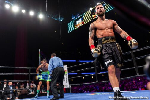 Caleb Plant, Jose Uzcategui - The challenger proved to be the aggressor as Caleb Plant became the IBF Super Middleweight World Champion, defeating Jose Uzcategui in the main event of the first Premier Boxing Champions on FS1 and FOX Deportes event of 2019, which took place at the Microsoft Theater at L.A. Live in Los Angeles. Plant dominated the whole fight as he maintained a fast and aggressive pace from the opening bell.