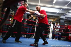 Adam Kownacki, Gerald Washington, Josesito Lopez, Keith Thurman - As fight week begins for the first Premier Boxing Champions on FOX and FOX Deportes event of 2019, welterweight world champion Keith Thurman and veteran contender Josesito López took part in a media workout at Gleason's Gym in Brooklyn on Wednesday before they headline action this Saturday, January 26 from Barclays Center, the home of BROOKLYN BOXING™.