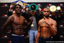 DeAndre Ware, Ronald Ellis - Undefeated super middleweight prospect Ronald Ellis and once-beaten DeAndre Ware both made weight on Thursday for their 10-round super middleweight clash in the main event of a ShoBox: The New Generation doubleheader tomorrow/Friday live on SHOWTIME (10 p.m. ET/PT) from Main Street Armory in Rochester.