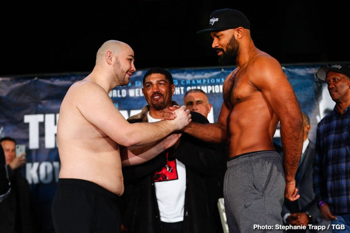 Adam Kownacki, Gerald Washington - Heavyweights Adam Kownacki, 18-0(14) and Gerald Washington, 19-2-1(12) could well give us a great fun fight on tomorrow night's Keith Thurman/Josesito Lopez card – the kind of wild, at times sloppy slugfest fans can warm to. Polish warrior Kownacki, a man who barrels forward and slings out leather with seeming abandon, has adopted this approach again and again during his exciting career, and against a potentially tough test in Washington, don't expect to see Kownacki box like a polished, slick pro. Instead, expect some great value for money from the supporting feature.