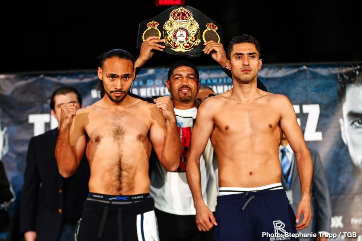 Josesito Lopez - This Saturday night features a variety of fights ranging from a so-so main event in Thurman vs. Lopez to more interesting matchups on the broadcast in Kownacki vs. Washington and Nyambayar vs. Marrero for the PBC on Fox. This weekend of boxing is not necessarily made for the casuals, although plenty will be tuned in to the top of the bill on Fox let's hope the undercard fights give us something to talk about Monday morning.