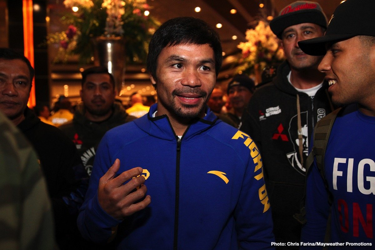 """Manny Pacquiao - """"I'll fight anybody,"""" says superstar Manny Pacquiao. Yet while the amazing 40 year old might or might not wind up facing Keith Thurman next, or maybe even fellow mega-star and all time great Floyd Mayweather, one man Pac-Man will NOT be fighting – next or at any other time – is Australian warrior Jeff Horn. As fans of course know, """"The Hornet"""" scored the biggest win of his career back in July of 2017, when he stunned Pacquiao (and the boxing world) to take a unanimous decision and the WBO welterweight title."""