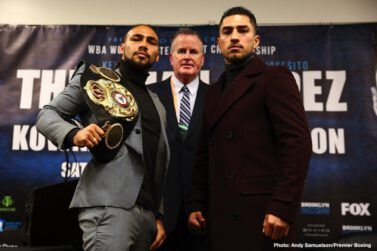 """Josesito Lopez, Keith Thurman - Welterweight world champion Keith """"One Time"""" Thurman discussed his anticipated return to the ring as he nears his showdown against Josesito Lopez that headlines Premier Boxing Champions on FOX and FOX Deportes Saturday, January 26 from Barclays Center, the home of BROOKLYN BOXING™."""