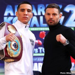 """Diego Magdaleno, Eleider """"Storm"""" Alvarez, Óscar Valdez, Richard Commey, Sergey Kovalev, Teofimo Lopez - Super Saturday is almost here. Three world title fights, including one of the most anticipated rematches in recent memory, will take place Saturday at Ford Center at the Star, the practice home of the Dallas Cowboys."""
