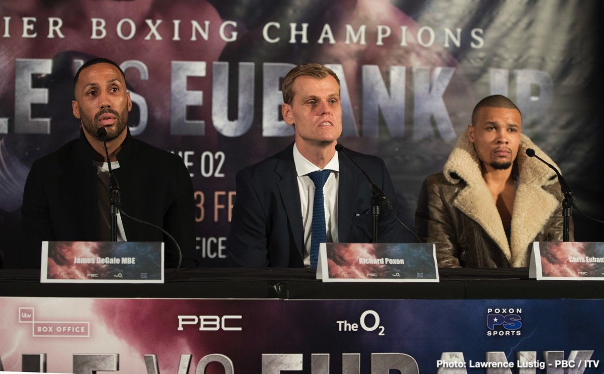 Chris Eubank Jr James DeGale British Boxing Press Room