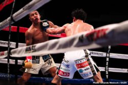 Jaime Munguia - WBO junior middleweight champion Jaime Munguia (32-0, 26 KOs) looked one dimensional in beating Takeshi Inoue (13-1-1, 7 KOs) by a wide 12 round unanimous decision on Saturday night in what turned out to be a grueling fight for the Golden Boy Promotions star on DAZN at the Toyota Center in Houston, Texas. This was not a good effort from Munguia. The flaws that Munguia showed against Inoue are troubling.