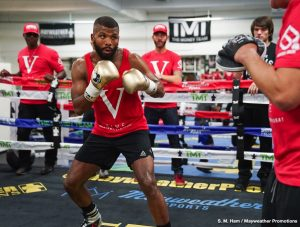 Badou Jack -  Former two-division world champion Badou Jack hosted a media workout at Mayweather Boxing Club in Las Vegas Thursday as he prepares to take on unbeaten top contender Marcus Browne for the WBA Interim Light Heavyweight Title Saturday, January 19 on the Pacquiao vs. Broner SHOWTIME PPV® event from the MGM Grand Garden Arena in Las Vegas and presented by Premier Boxing Champions.