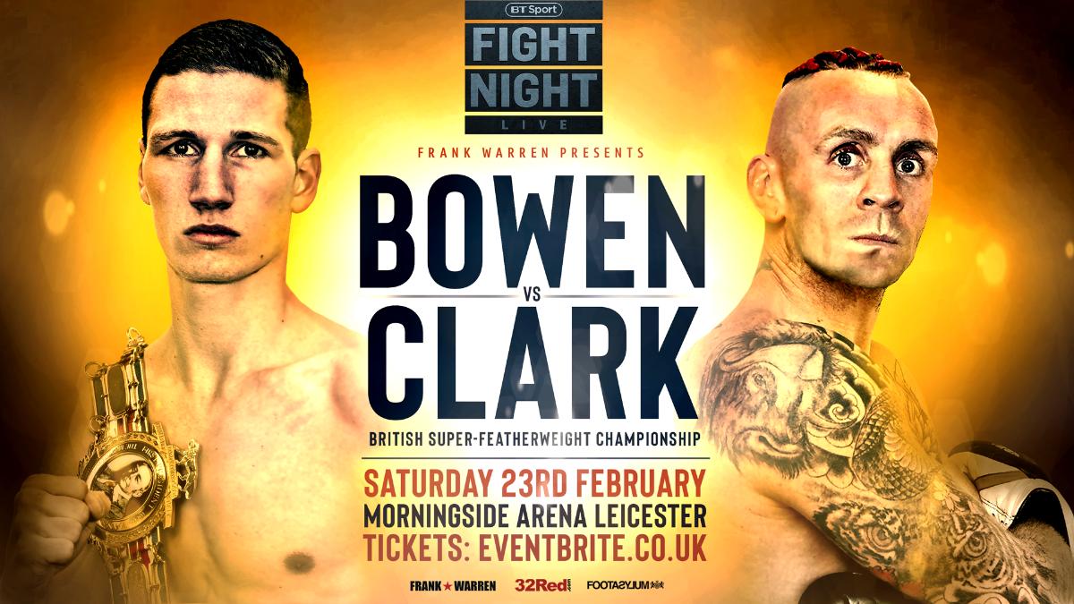 Ronnie Clark Sam Bowen British Boxing Press Room