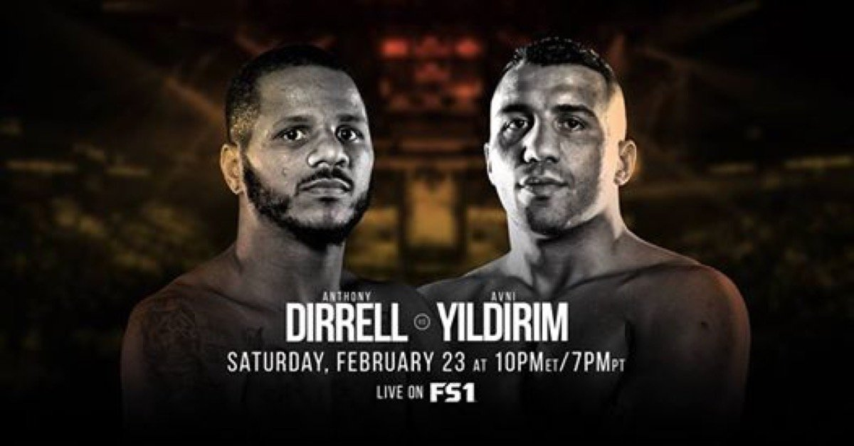Avni Yildirim - Former super middleweight world champion Anthony Dirrell gets an opportunity to rejoin the championship ranks when he battles top contender Avni Yildirim for the vacant WBC Super Middleweight Championship in the main event of Premier Boxing Champions on FS1 and FOX Deportes Saturday, February 23 from The Armory in Minneapolis, Minnesota.