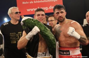 Vincent Feigenbutz - Vincent Feigenbutz (30-2, 27 KOs) celebrated his 30th career win on Saturday night as the German talent targets World honours following a fifth-round TKO victory over Przemyslaw Opalach (27-3, 22 KOs).