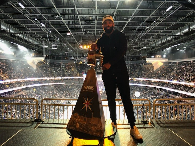 Adrien Broner, Badou Jack, Manny Pacquiao, Marcus Browne - Two-division champion Badou Jack was the guest of honor at last night's Vegas Golden Knights game as the Las Vegas resident rang the Knights' rally raid siren before the home team defeated the New York Rangers at T-Mobile Arena.