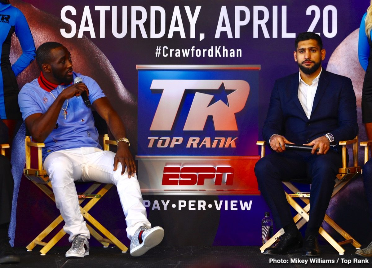 Amir Khan Terence Crawford Boxing News British Boxing
