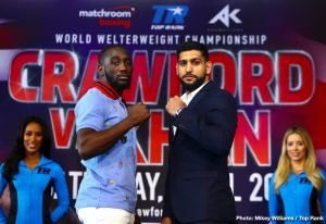 Anthony Crolla - Two British stars, both former world champions, face quite overwhelming odds in the month of April; and Amir Khan and Anthony Crolla will go the the lion's den in America as they each attempt to pull off what would likely be looked at as The Upset of The Year if they managed to win. Crolla, the former WBA lightweight champ, faces the seemingly unbeatable Vasyl Lomachenko (who has actually lost a pro fight, yet is considered all but untouchable today) in Los Angeles on April 12th, while former IBF/WBA 140 pound champ Amir Khan faces the unbeaten Terence Crawford in New York on April 20th.