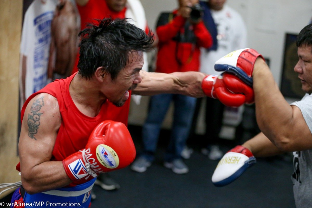 """Adrien Broner, Manny Pacquiao - Senator Manny """"Pacman"""" Pacquiao (60-7-2, 39 KOs), boxer laureate and the sweet science's only eight-division world champion, has a goal.  That goal is to knock out his next opponent, Cincinnati's Adrien """"The Problem"""" Broner (33-3-1, 24 KOs), when they collide on Saturday, January 19, at the MGM Grand Garden Arena in Las Vegas, Nevada.  Presented by Premier Boxing Champions, the Pacquiao vs. Broner WBA welterweight world championship event will be produced and distributed live by SHOWTIME PPV® beginning at 9 p.m. ET / 6 p.m. PT."""