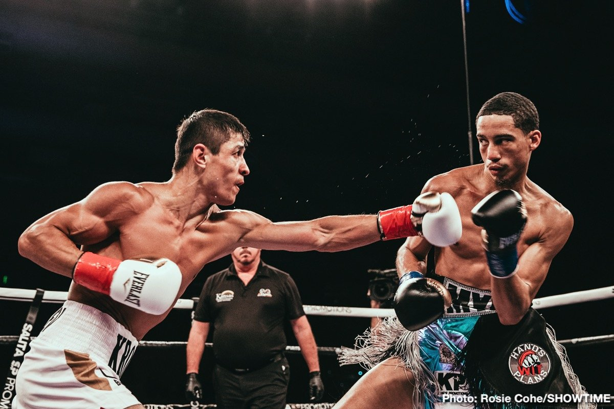 Shohjahon Ergashev overcame a five and a half-inch height advantage recording a unanimous decision victory over fellow undefeated prospect Mykal Fox in the 10-round super lightweight main event of ShoBox: The New Generation Friday on SHOWTIME from the Kansas Star Casino.