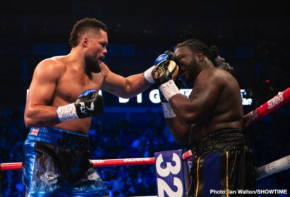 """Joe Joyce, Manuel Charr - British heavyweight contender Joe Joyce picked up the biggest win of his now 8-fight pro career last night in hammering out a fleshy but game Bermane Stiverne. The 33 year old """"Juggernaut"""" had to take the odd head shot early on, but this proved to be no problem and soon the 2016 Olympic silver medal winner was dishing out a thorough beating to the former WBC champ."""