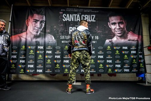 John Molina, Leo Santa Cruz, Omar Figueroa, Rafael Rivera -  Fighters competing on Saturday's Premier Boxing Champions on FOX and FOX Deportes event took part in a media workout Wednesday as they near their respective showdowns this Saturday night at Microsoft Theater at L.A. Live in Los Angeles.