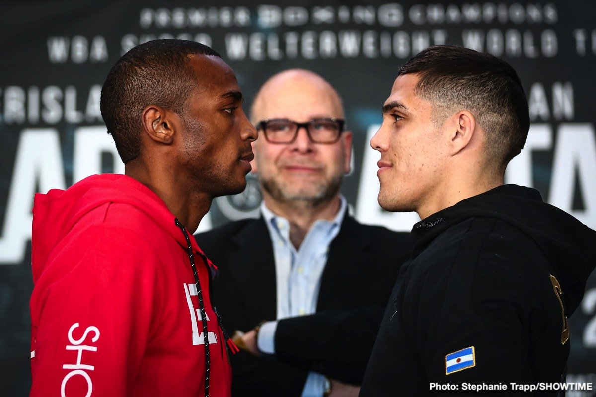 Brian Castano - Former world champion Erislandy Lara and WBA Super Welterweight Champ Brian Castaño went face-to-face Thursday at the final press conference before they headline action this Saturday live on SHOWTIME from Barclays Center, the home of BROOKLYN BOXING™, and presented by Premier Boxing Champions.