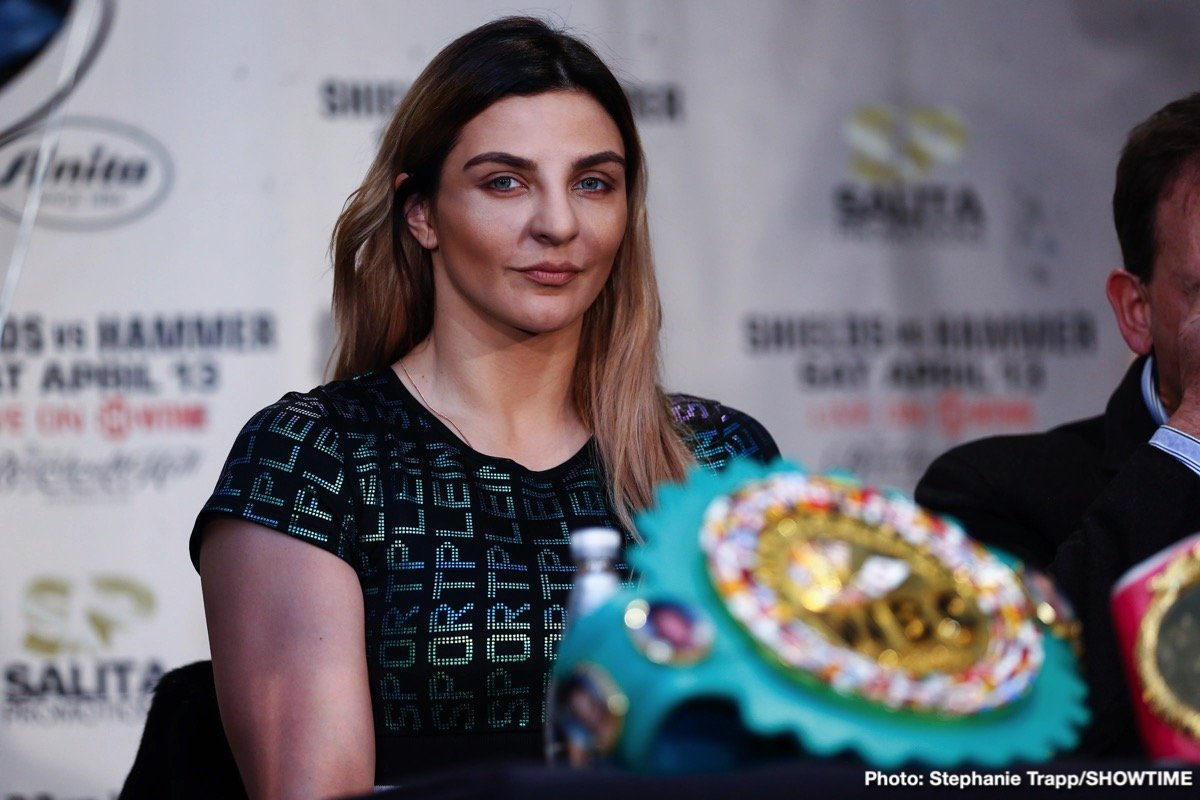 Before she arrived in New York Thursday for the final part of her training camp, WBO Middleweight World Champion Christina Hammer shared her thoughts on her showdown for the Undisputed Middleweight Championship against WBA, WBC and IBF Middleweight Champion Claressa Shields Saturday April 13 live on SHOWTIME from Boardwalk Hall in Atlantic City, N.J.