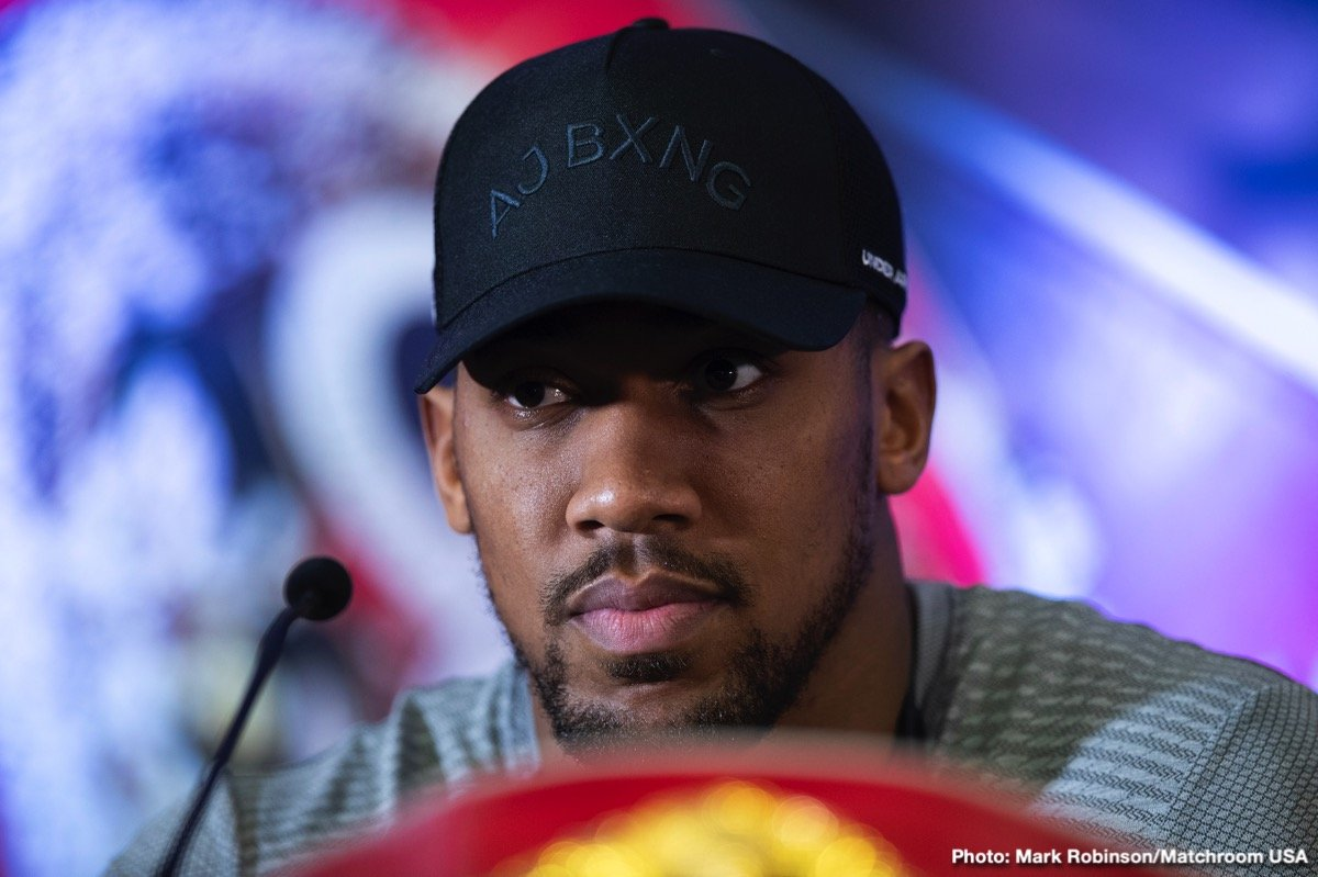 """Anthony Joshua - Does unbeaten heavyweight contender Jarrell Miller truly believe Anthony Joshua, who he will be challenging for a handful of world title belts in just over three months, is guilty of having taken illegal substances, PEDs – or is """"Big Baby"""" merely doing anything he can to get under Joshua's skin, to rattle him? Of course we cannot know for sure, but yesterday, at the second presser to hype the June 1st fight, Miller accused AJ of having taken illegal substances (he didn't say which ones, nor did he offer any proof) and he stated that he and his team have """"busted our balls to get full testing for ten weeks"""" ahead of the fight."""