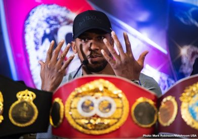 "Anthony Joshua Jarrell ""Big Baby"" Miller Boxing News British Boxing Top Stories Boxing"
