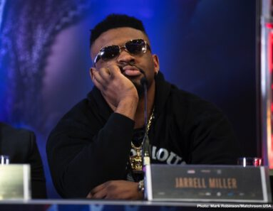 "Anthony Joshua, Jarrell ""Big Baby"" Miller - In a press conference on Monday afternoon, DAZN and Matchroom USA gathered across the pond in London to formally announce the United States debut of Anthony Joshua who will defend his WBA Super, IBF, WBO and IBO World Heavyweight titles against Brooklyn's Jarrell 'Big Baby' Miller at Madison Square Garden on Saturday June 1, live on DAZN."