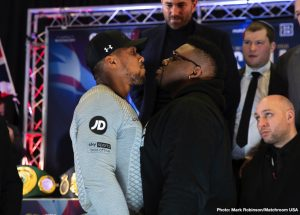 """Jarrell """"Big Baby"""" Miller - In a press conference on Monday afternoon, DAZN and Matchroom USA gathered across the pond in London to formally announce the United States debut of Anthony Joshua who will defend his WBA Super, IBF, WBO and IBO World Heavyweight titles against Brooklyn's Jarrell 'Big Baby' Miller at Madison Square Garden on Saturday June 1, live on DAZN."""